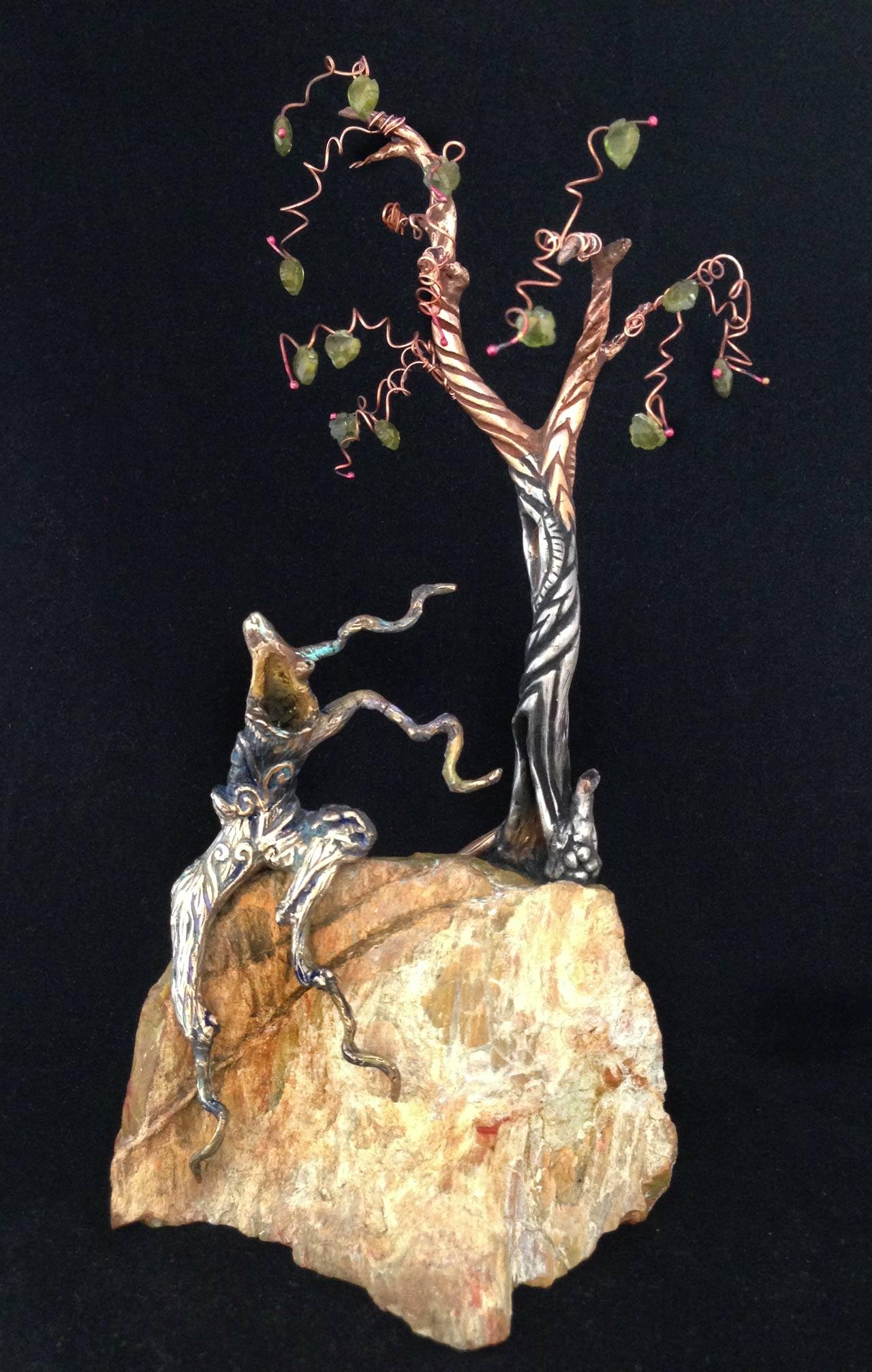 tree spirit on rock