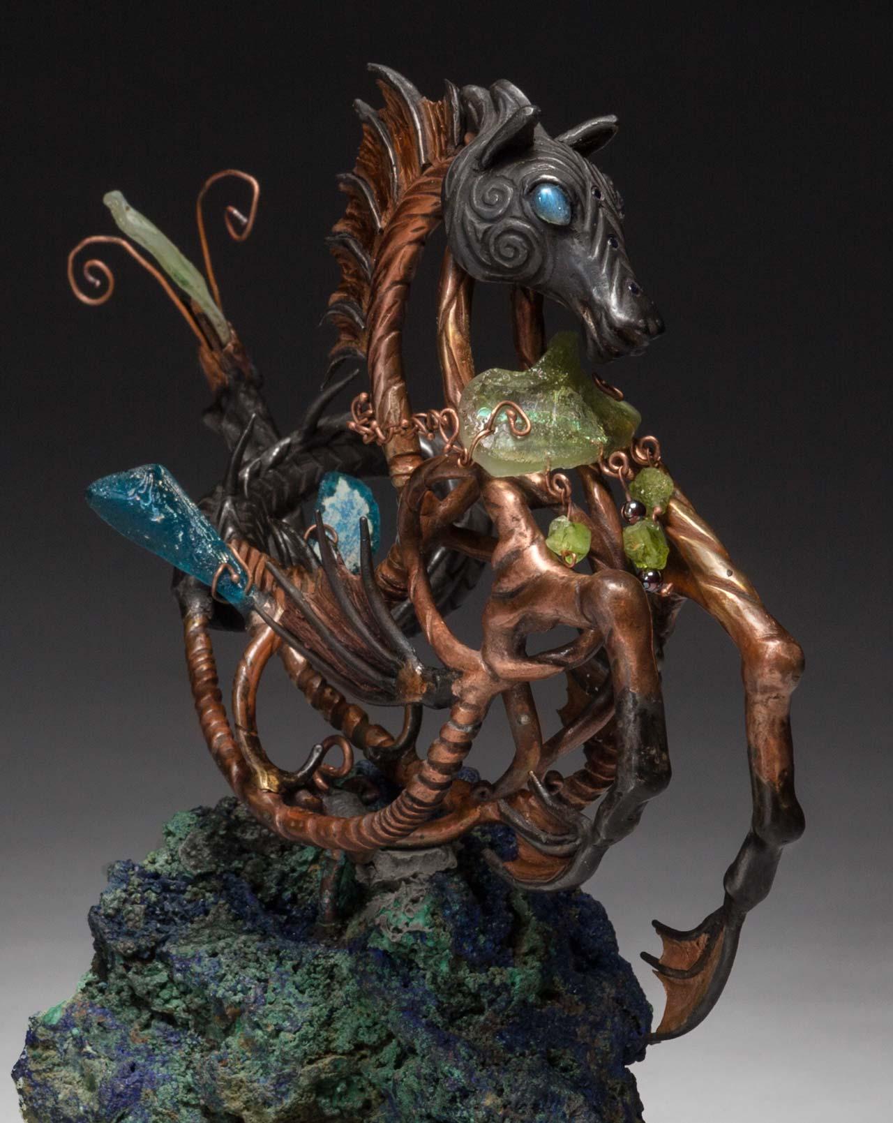 metal sculpture: neptune front