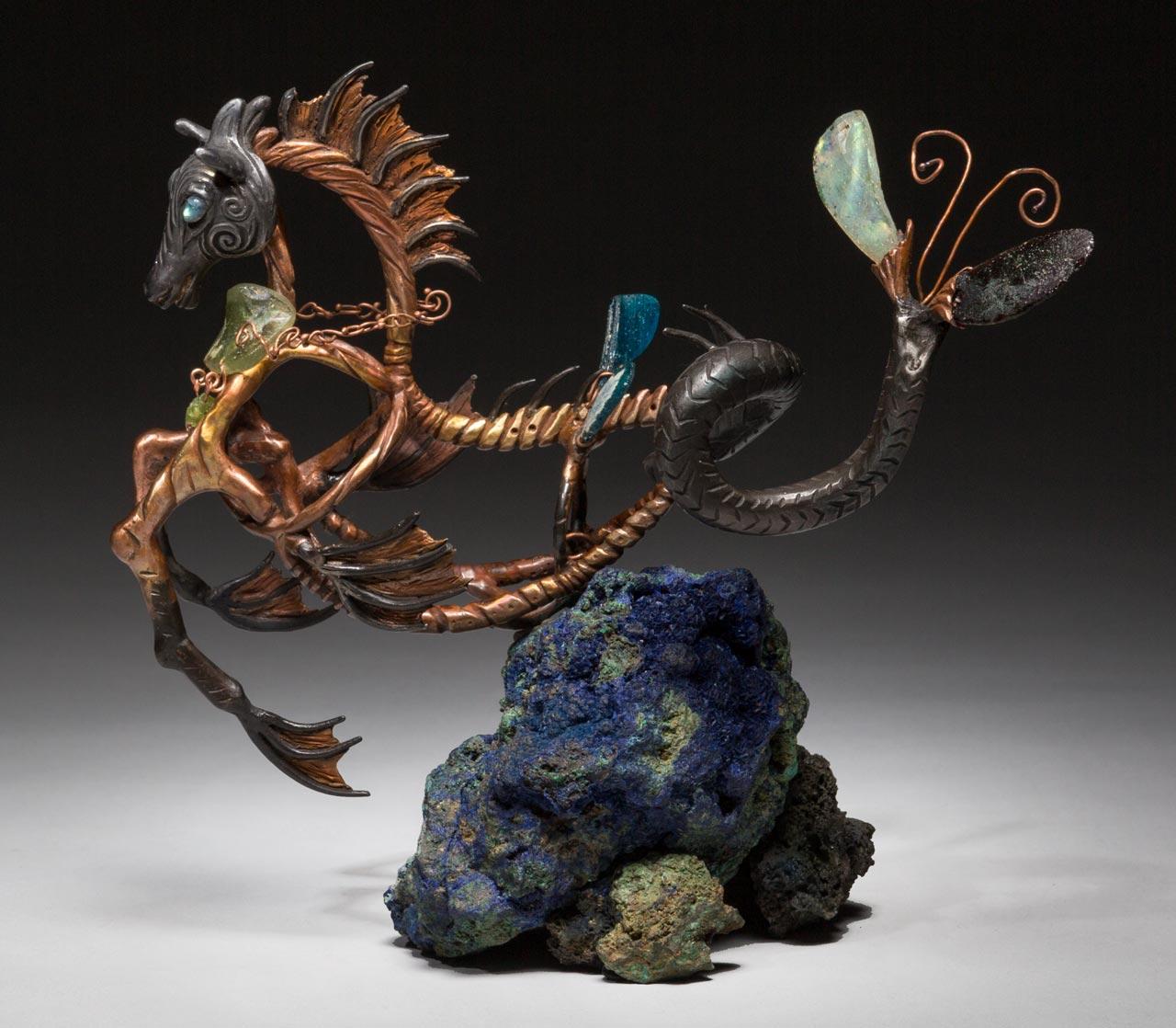 metal sculpture: neptune